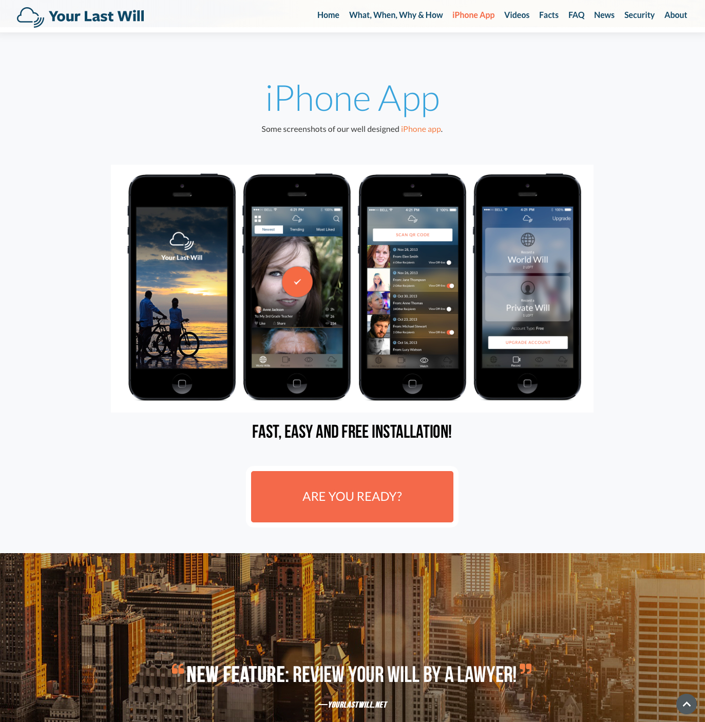 Your Last Will iPhone app