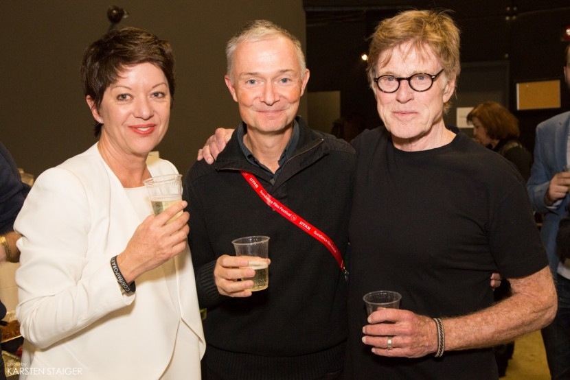 Robert Redford, Sibylle Szaggars Redford and me